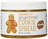 Amoretti Natural Creamy Gingerbread Cookie Spread, 12 Ounce