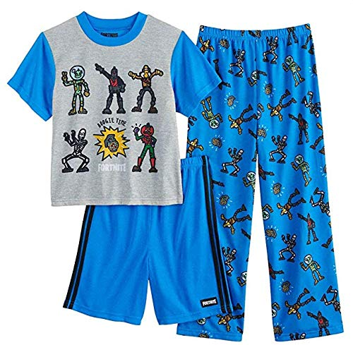 Fortnite Boys Boogie Dance 3-Piece Pajama Set (10) Blue