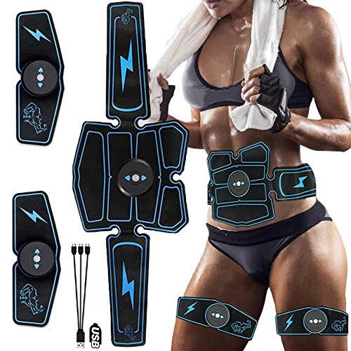 AFGH estimulador Abdominal EMSestimulador Muscular masajista Abdomen Entrenador cinturón Cuerpo Adelgazamiento Masaje Inteligente Entrenamiento físico Pegatina de pérdida de Peso eléctrica
