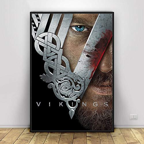 keletop 1000pcs_Wooden Adult Puzzle_Vikings Painting_Impossible Puzzle, Juego de Habilidad para Toda la Familia_50x75cm