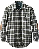 Pendleton, Men's Long Sleeve Button Front Tall Trail Shirt, Green/Slate Plaid, Medium