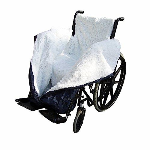 NRS Healthcare N36883 NRS Fleece-gefütterte, wasserdichte und komfortable Rollstuhldecke