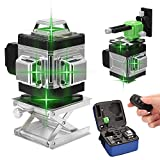 Kreuzlinienlaser 25M KKmoon grüner Lasepegel 4 x 360 16 Linien Laser Level 3 ° Selbstnivellierendes mit APP Fernbedienung IP54 Staub und Waseerschutz