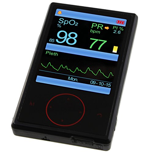 Oxímetro Pulox PO-600 Pulsioxímetro de Mano con Sensor Externo, Pantalla OLED, USB
