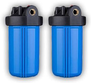 """FILTER Boîtier de Filtre à Eau de 10""""Big Blue Sortie/entrée en cuivre de 3/4 Pouces avec Dispositif de décompression Bague..."""