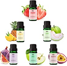 Fruity Fragrance Oils, MitFlor Essential Oils Set, Premium Scented Oils for Diffuser, Soap, Candle Making, Guava, Strawberry, Passion Fruit, Apple, Fig, Pineapple, Summer Aromatherapy Oils Gift Kit