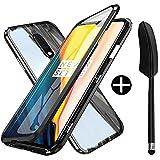 Coque Magnétique pour OnePlus 7,OnePlus 6T Coque Adsorption Magnétique Avant et Arrière Verre...