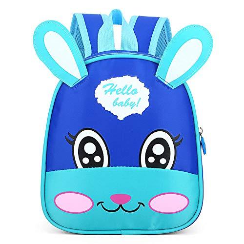 Kinderrugzak met cartoon-patroon, kinderrugzak, schattig konijntje voor kinderen, Lichtblauw (blauw) - 9873588146443