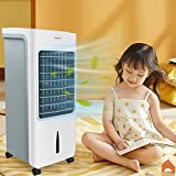 NAIZY Mobiles Klimagerät Ohne Abluftschlauch, 3 in 1 Klimagerät Ventilator Luftkühler 80W Klimaanlage Leise 6 Liter Kapazität Kühlender Ventilator Mobil