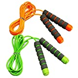 Adjustable Soft Skipping Rope with Skin-Friendly Foam Handles for Kids, Children, Students and...