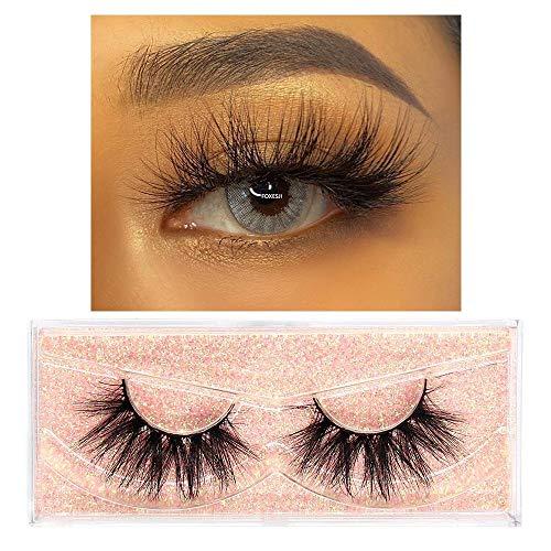 False Eyelashes40 Models 3D Mink Lashes False Eyelashes Fluffy Thick Cross Dramatic Eyelashes Eye Lashes Reusable Wispy Eyelash Extension Make -K37