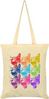 Chromatic Kittens Tote Bag Cream 38x42cm