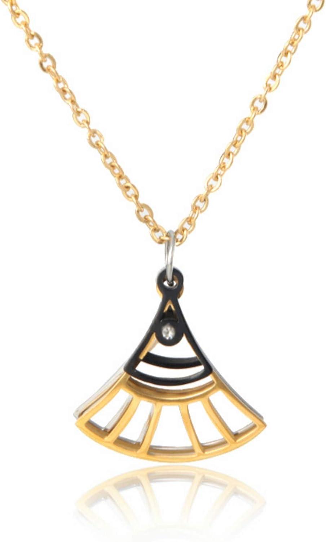 Geometric Fan Shape Pendants Necklace Fashion Bohemia Jewelry For Women Love Chain Short Necklaces Statement Collar New