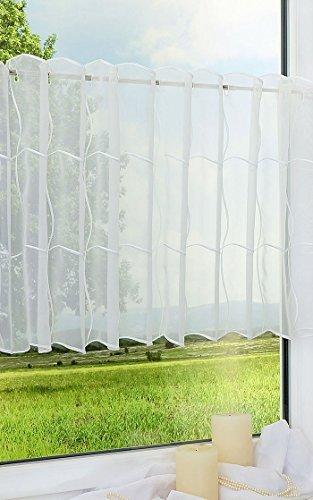 LYSEL Scheibengardine Quadro (Bx H) 150cm * 50cm weiß