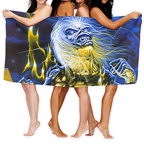 Iron Maiden Microfibre Towel For Kids and Adults Ultra Soft Super Absorbent Beach Towel