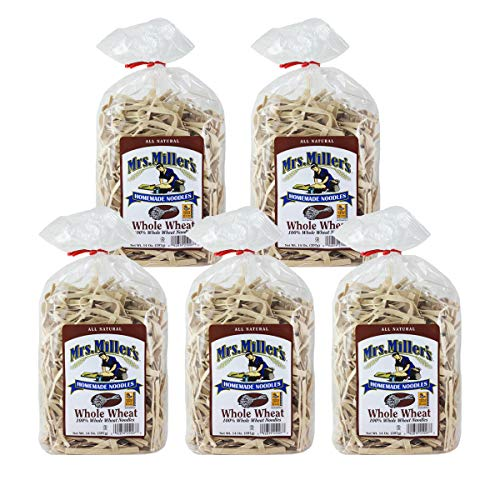 Mrs. Miller's Homemade Noodles, Whole Wheat, All Natural & Cholesterol Free, 14 OZ (Pack of 5)