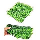 HWNGDI Césped Artificial Verde plástico Pescado Adorno Adorno Aquarium Césped Paisaje Decoración para el jardín del hogar Durable (Color : Green, Size : 25cm x 25cm)