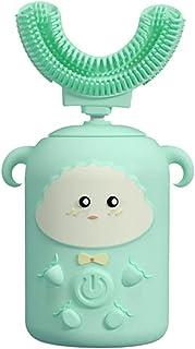 Elektryczna szczoteczka do zębów dla dzieci Czystość 360 °, wodoodporność IPX7, silikonowa główka szczoteczki do żywności,...
