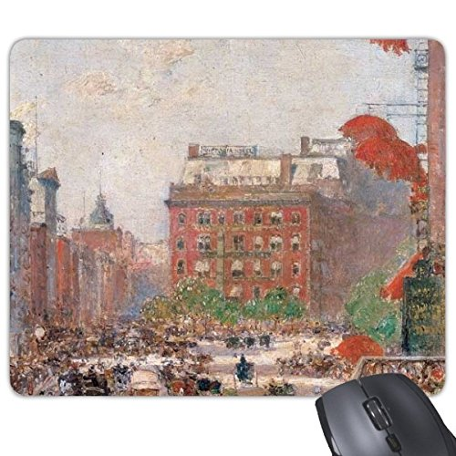 Olieverfschilderij Bouwen Wegenmarkt Europese Illustratie Patroon Rechthoek Antislip Rubber Mousepad Game Mouse Pad Gift