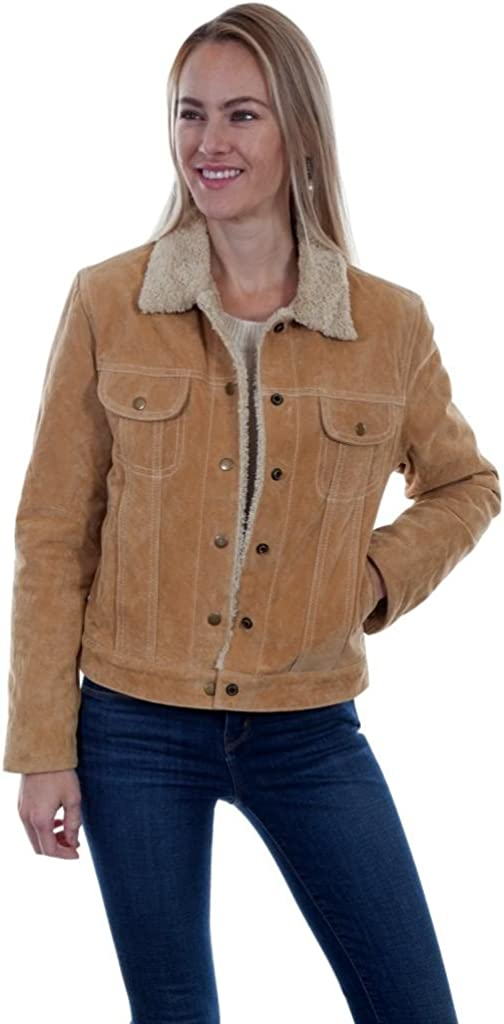 Scully Women's Faux Shearling Jean Jacket Rust Copper X-Small