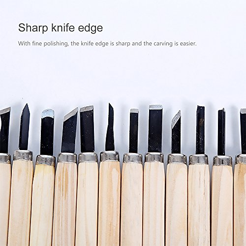 GerTong 12 Pcs Wood Carving Tools Art Craft Wood Chisels Carving Knife Clay Carpentry Hand Tools for Chisel DIY Woodworking Carving All Beginners and Amateur