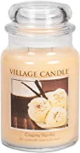 Village Candle 106026302 Creamy Vanilla Large Glass Apothecary Jar Scented Candle, 21.25 oz, Ivory