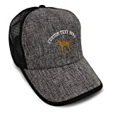 Custom Straw Trucker Hat Baseball Cap Chesapeake Embroidery Polyester for Men & Women Snapback Heather Grey Black Personalized Text Here