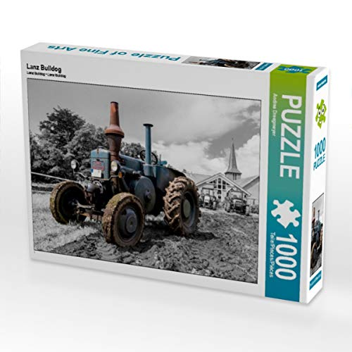 CALVENDO Puzzle Lanz Bulldog 1000 Teile Lege-Größe 64 x 48 cm Foto-Puzzle Bild von Andrea Dreegmeyer