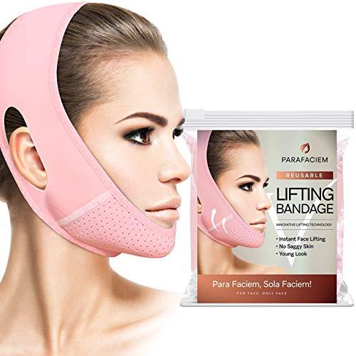 ParaFaciem Reusable V Line Mask Facial Slimming Strap Double Chin Reducer Chin Up Mask Face Lifting Belt V Shaped Slimming Face Mask