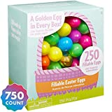 Party City Multi-Colored Fillable Easter Eggs, Plastic, 750 Count