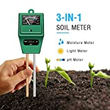 Atree Soil pH Meter, 3-in-1 Soil Test Kits with Moisture,Light and PH Tester for...