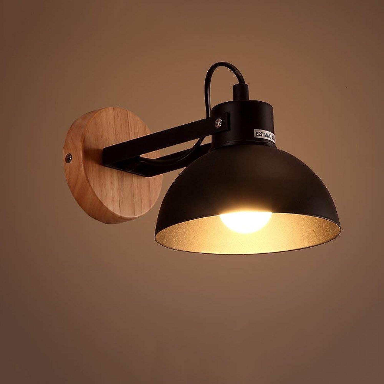 ATR Einfache Studie Gang Treppen Schlafzimmer Schlafzimmer LED Holz Wandleuchte Gre  hoch 18 cm A ++ (Farbe  schwarz)