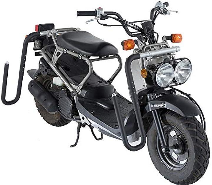 Portapacchi speciale per moto e scooter con smontaggio rapido dei tubi - rack, tavola da surf per moto B081H5FLYG