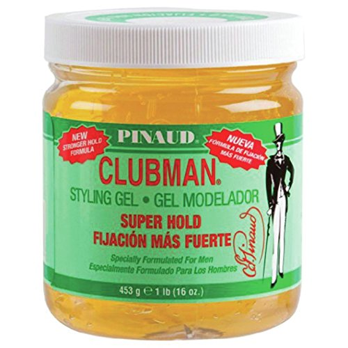 Clubman Pinaud Superhold Styling Gel Specially Formulated for Men, 16-Ounce (Pack of 3) by Pinaud Clubman
