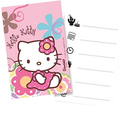 Monster Parties Hello Kitty Bambou Cartes d'invitation