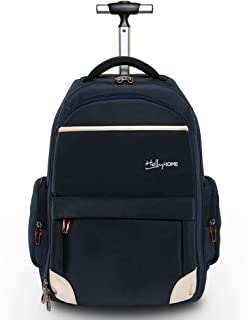19 inches Wheeled Rolling Backpack for Men and Women Business Laptop Travel Bag, Upgrade Blue