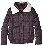 Catherine Malandrino Little Girls Bubble Jacket With Faux Shearling Trim, Charcoal, 5/6