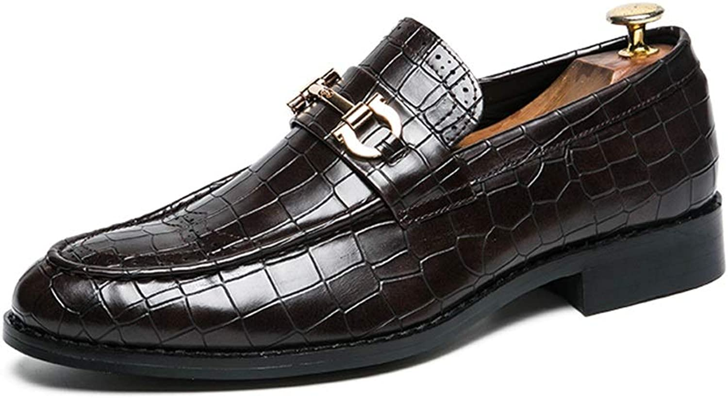 XIANGBAO-Personality Fashion Men's Oxford Casual Personality Texture Rustproof Metal Decoration Formal shoes