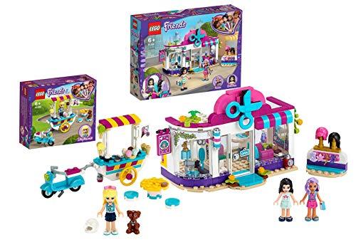 Legoo Lego Friends-Set: 41391 - Friseursalon von Heartlake City + 41389 - Stephanies mobiler Eiswagen, ab 6 Jahren