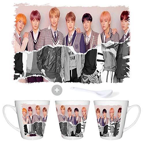 MERCHANDMANIA Tasse Conca BTS Korea Fake Love Music Conic Mug