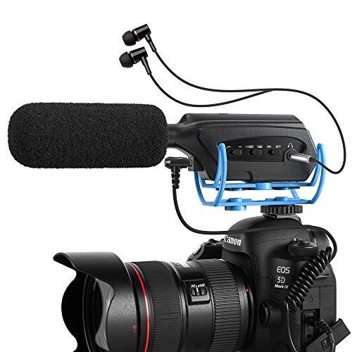 Moukey Soporte de micrófono Ajustable para Tableta de 7-13 Pulgadas (17,5-33 cm) Compatible con iPad, Samsung Galaxy Tab y iPhone XR XS, con Soporte Giratorio de 360 Grado