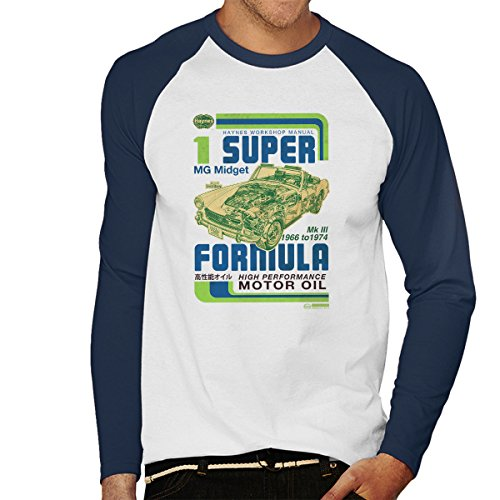 POD66 Haynes MG Midget Formula Motor Oil Men's Baseball Long Sleeved T-Shirt