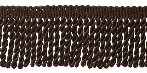 DÉCOPRO 10 Yard Value Pack| 2.5 Inch Bullion Fringe Trim|Style# EF25 Color: D2 - Mocha Brown|9.5 Meters / 30 Ft