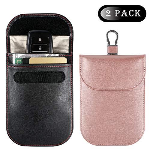 Teskyer Faraday Bag for Key Fob (2 Pack), Car Key RFID Signal Blocking, Anti-Theft Pouch, Anti-Hacking Case