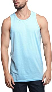 Solid Color Long Length Curved Hem Tank Top