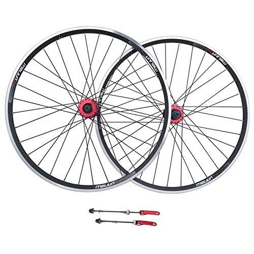 Ckssyao Bike Wheelset, 26inch MTB Ruote da Ciclismo V-Freno Disc Rim Brake Cuscinetti sigillati Sigillati 32 Fori Ruote per Biciclette