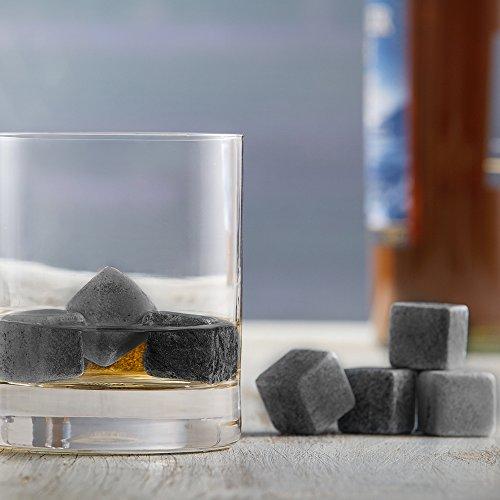 AMAVEL Whiskysteine in edler Holzbox – Standard – 9 geschmacksneutrale Kühlsteine für Whisky inkl. Aufbewahrungsbox – Wiederverwendbare Eiswürfel aus Granit – Originelle Geschenk-Idee für Männer - 6