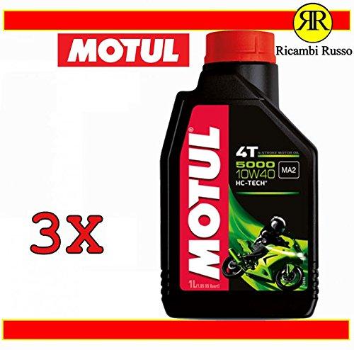 Olio motore moto Motul 5000 10w40 4T litri 3