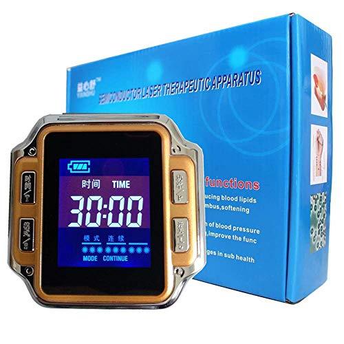TZCC 650Nm Reloj de Terapia Láser, Diodo Terapia Reloj de Pulsera de Los Hogares para Personas Mayores de Presión Arterial Alta Grasa Diabetes Tratamiento Rinitis