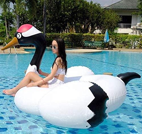 YQDSY 190Cm Gigante Rojo-Coronado Grúa Piscina Inflable Flotador para Niños Adultos Anillo de Natación Playa Juguetes de Agua Flotante de Aire Colche Fila de cojín de aire flotante ⭐
